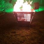 Feuertonne Motiv USA-Flagge